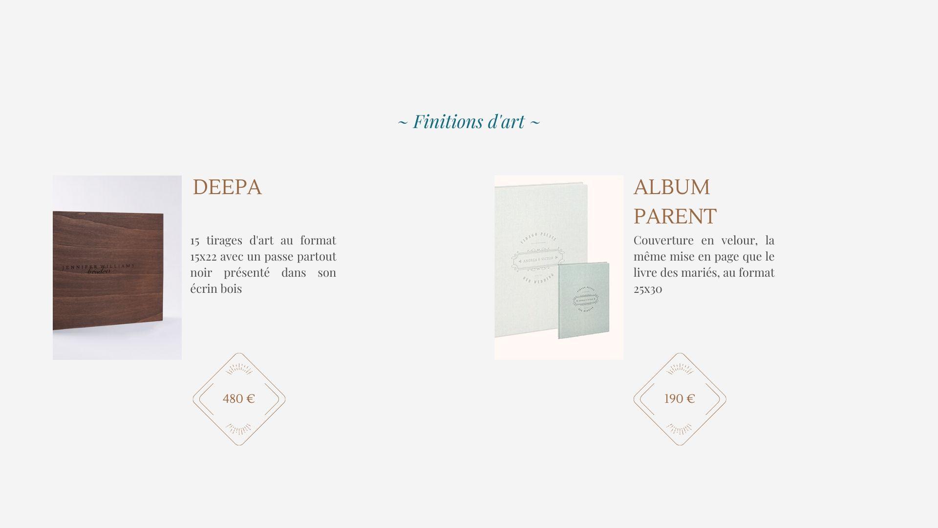 presentation de deux albums d'art réalisé artisanalement